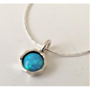 Colier argint opal -N2725A