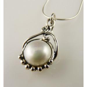 Colier argint perla E2017
