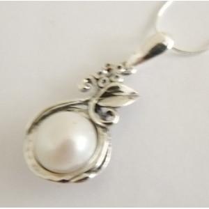 Colier argint perla -N4939A-3