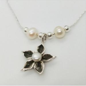 Colier argint perla N6256B