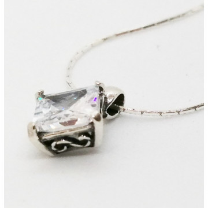 Colier argint zircon N4359