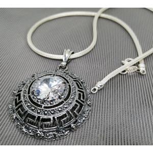 Colier argint -zircon P3608-CTAC0025