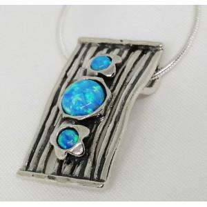 Colier din argint cu opal- N2631