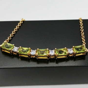 Colier Valerie -argint placat si aur - peridot VNCK033161