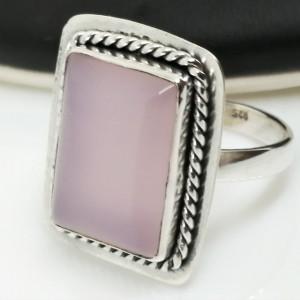Inel argint cuart roz- R17
