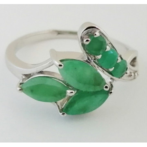 Inel argint cuart verde-VR023241