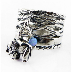 Inel argint Elefant  R2815 - opal imperial