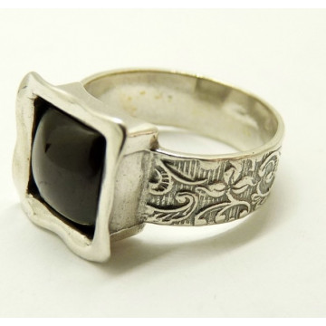 Inel argint granat -R4267