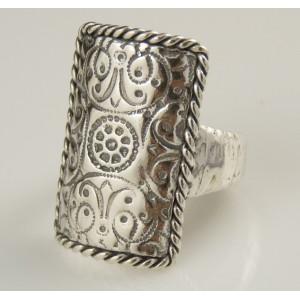 Inel argint gravat R8507