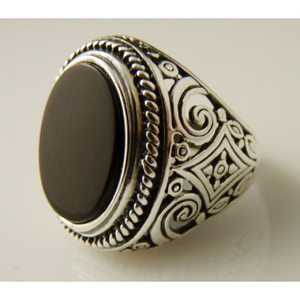 Inel argint onix -R3352