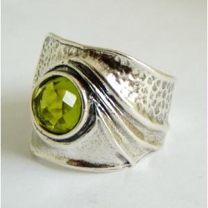 Inel argint peridot R844