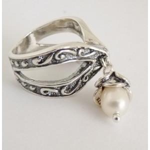 Inel argint perla R2884