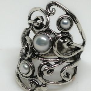 Inel argint perle R10590-1