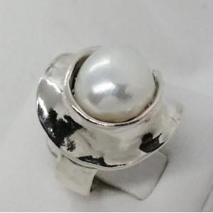 Inel argint perle - R11694