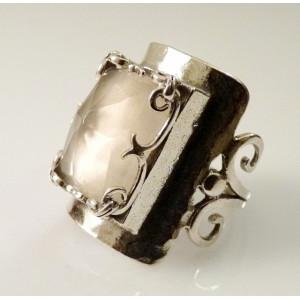 Inel argint R2989 - cuart roz