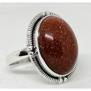 Inel argint - R35- piatra soarelui