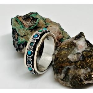 Inel argint si aur 14k-piatra opal -R4808