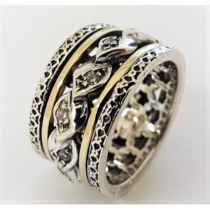 Inel argint si aur 14k -RG10-99