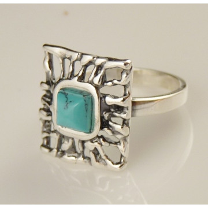 Inel argint turcoaz R1595