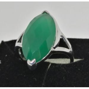 Inel argint VR012678- onix verde