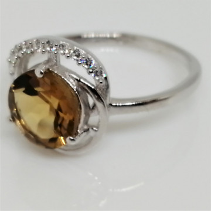Inel argint VR08284-whisky quartz
