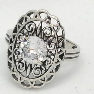 Inel argint zircon R2872