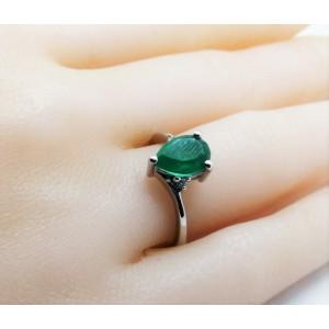 Inel delicat din argint cu onix verde -VR016673
