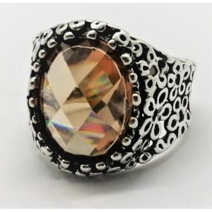 Inel din argint -champagne quartz-R7281