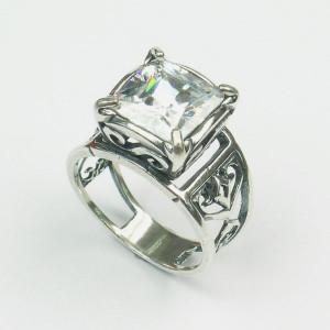 Inel din argint -zircon-R4344