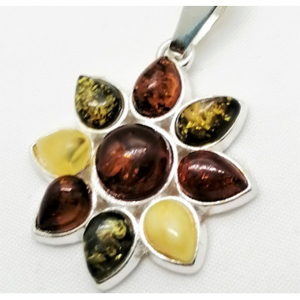 Pandantiv argint chihlimbar --P3050-3