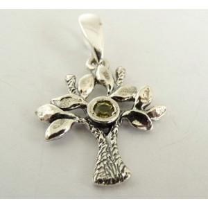 Pandantiv argint -Copacul Vietii- R3305- peridot