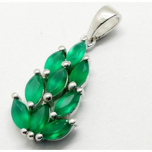 Pandantiv argint VP014252-onix verde