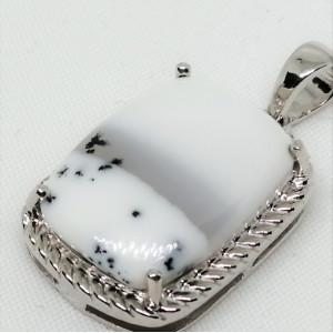 Pandantiv argint -VP015444- Agat dendritic
