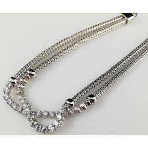 Bratara argint - zirconii -B1500486
