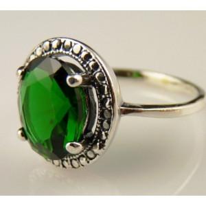 Inel argint delicat -green quartz -R2422