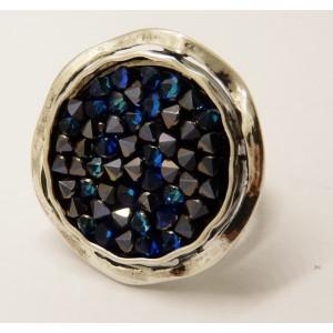 Inel argint Swarovski Bermuda Blue-R2418