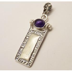 Pandantiv argint vintage - E503-1481 ametist