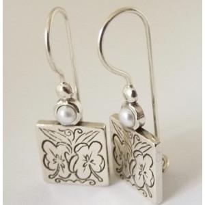 Cercei din argint si perla E5765