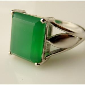 Inel argint onix verde -VR012691