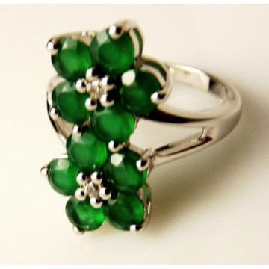 Inel argint VR016717-onix verde