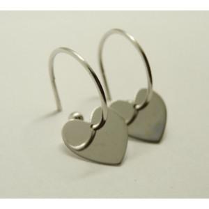 Cercei argint cu surub -inimioare-ORST0659RHCU