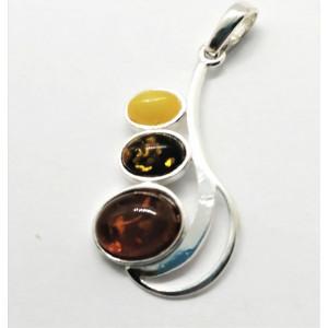 Pandantiv argint chihlimbar P1382-1