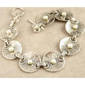 Bratara argint si perle - B742