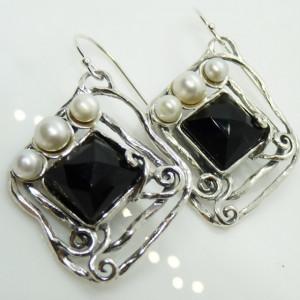Cercei argint E5461-onix