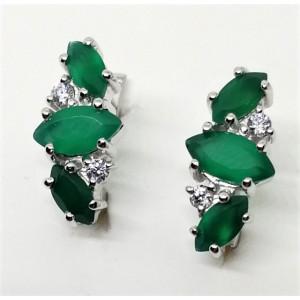 Cercei argint onix verde -VE014374