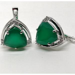 Cercei argint onix verde -VE016161