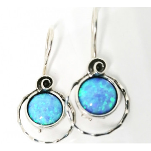 Cercei argint opal -E3789