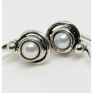 Cercei argint perla -E682