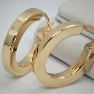 Cercei creole ovale MONZA- argint placat cu aur galben ORGA0240AG415