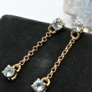 Cercei Danielle -argint placat cu aur -topaz VE018063